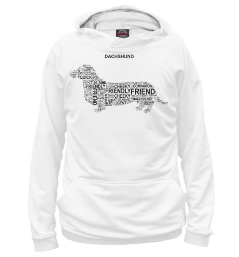 Купить Мужское худи Dachshund Такса DOG-201417-hud-2