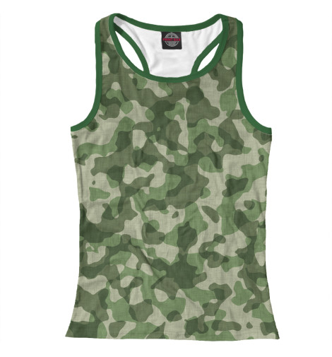Купить Женская майка-борцовка Зелёный камуфляж MSV-436085-mayb-1