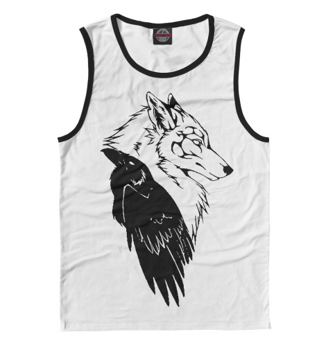 Майка Print Bar Wolf & Raven худи print bar native wolf