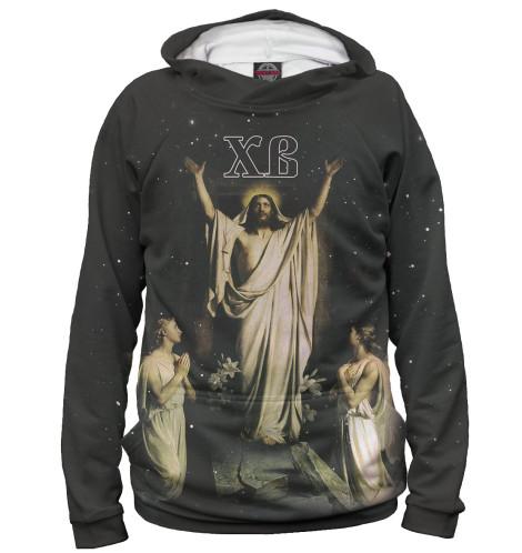 Худи Print Bar Христос Воскрес вышивка бисером молящийся христос