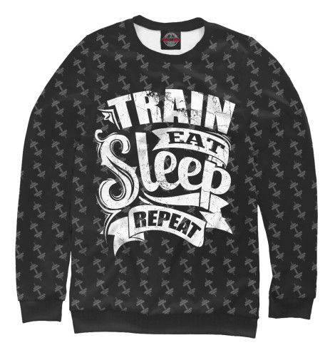 Свитшот Print Bar Train Eat Sleep Repeat майка print bar train eat sleep repeat