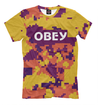 Мужская Футболка OBEY PIXEL COLLECTION