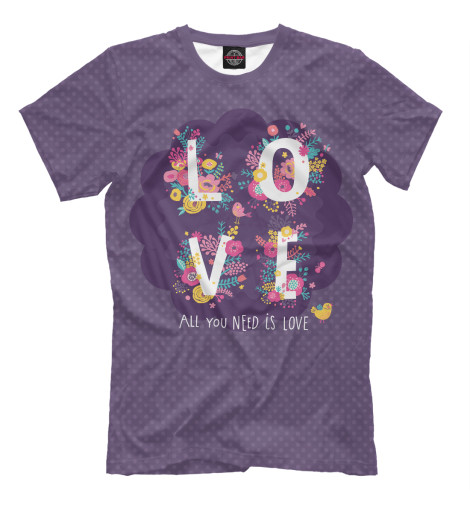 Футболка Print Bar All you need is love all you need is love – the peace corps