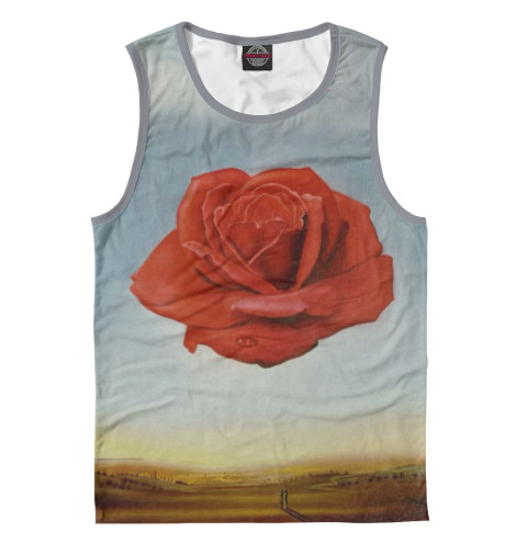 Фото - Мужская майка Медитативная роза от Print Bar белого цвета