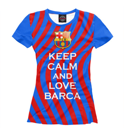 Футболка Print Bar Keep Calm and Love Barca футболка wearcraft premium printio keep calm and play pokemon