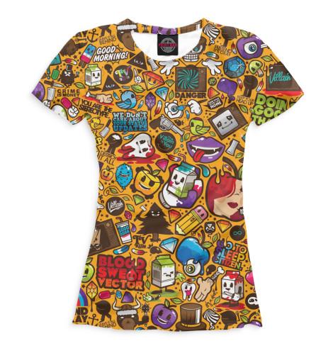 Женская футболка Поп-арт