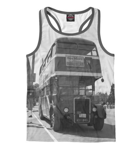 Майка борцовка Print Bar Англия. Лондон. Автобус. восток и запад англия и лондон страна жемчуга