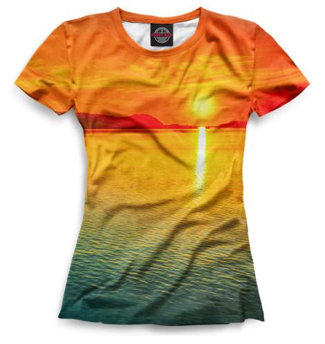 Женская футболка Закат
