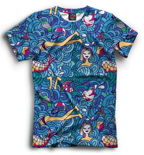 Мужская футболка Океан