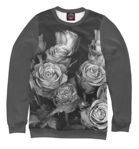 Свитшот Print Bar Черно-белые розы