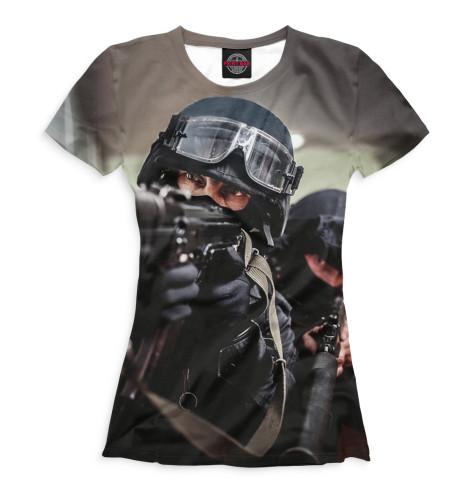 Женская футболка Спецназ