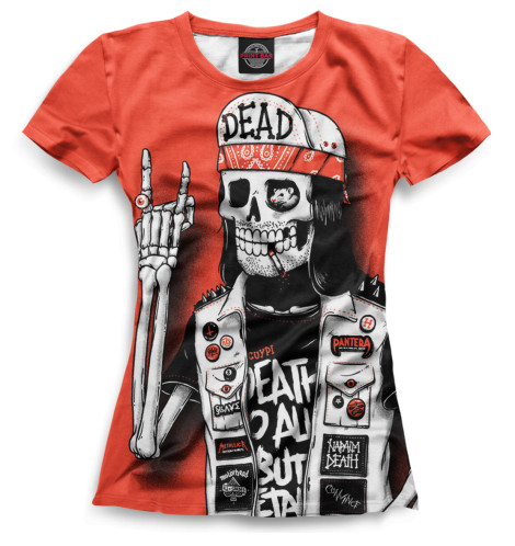 Женская футболка Скелет