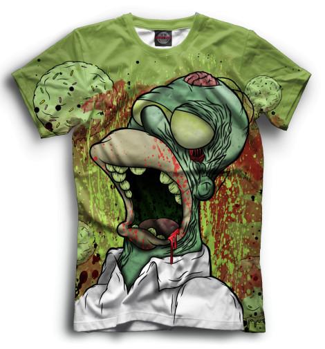 Мужская футболка Гомер-зомби