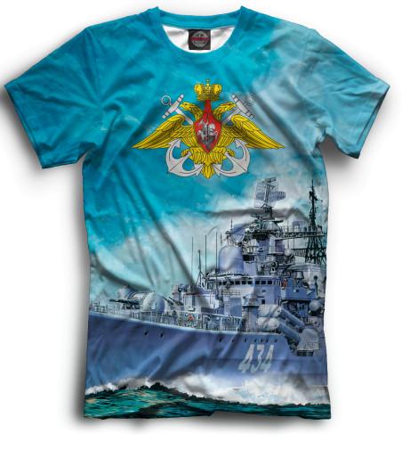 Мужская футболка Боевой корабль