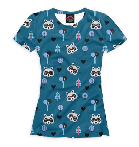 Женская футболка Еноты