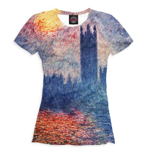 Женская футболка Парламент в Лондоне