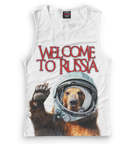 Женская майка Welcome to Russia