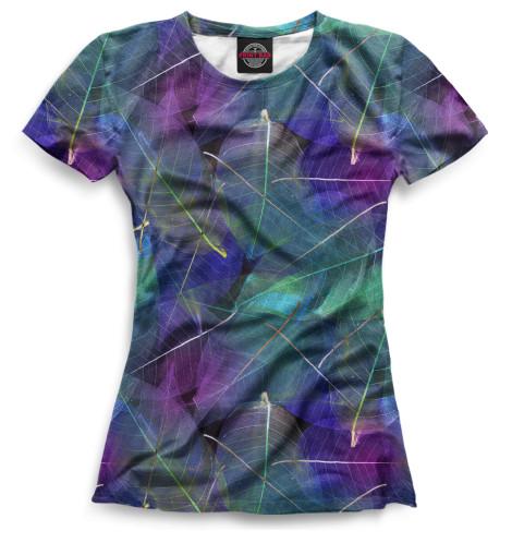 Женская футболка Листья