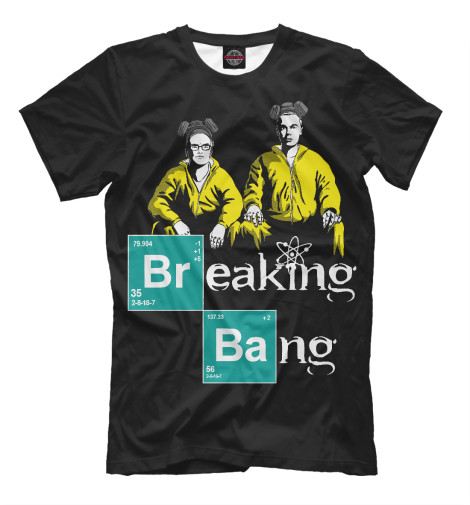 Футболка Print Bar Breaking Bang блокнот breaking bad во все тяжкие