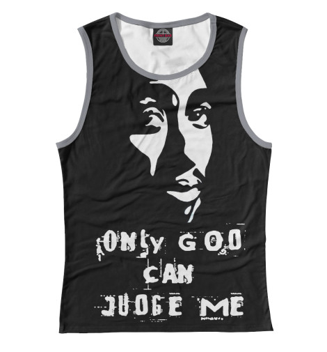 Майка Print Bar Only God Can Judge Me футболка wearcraft premium printio only doge can judge me