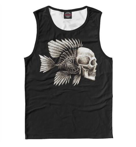 Майка Print Bar Skull Fish майка print bar birdy skull