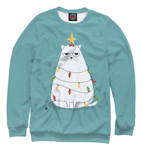 Свитшот Print Bar Cute christmas cat amory c the cat who stayed for christmas