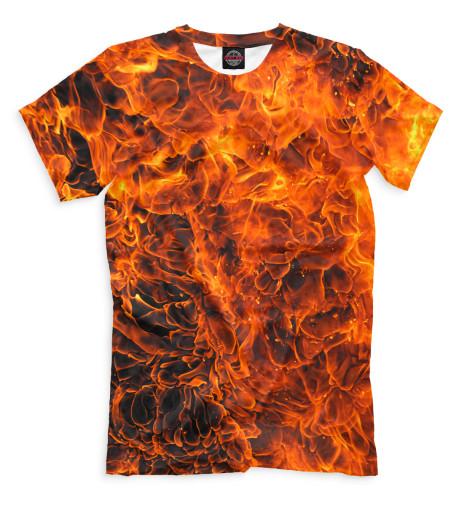 Мужская футболка Огонь