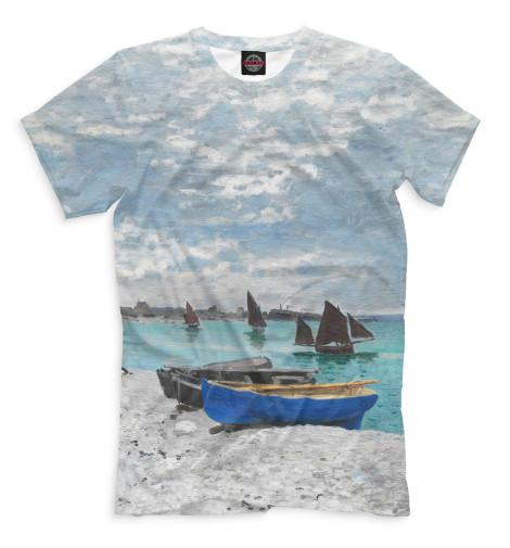 Мужская футболка Пляж в Сен-Адрессе