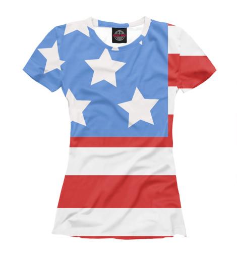 Футболка Print Bar Флаг США флаг пограничных войск россии великий новгород