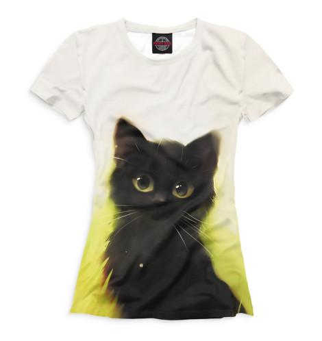 Купить Футболка для девочек Коты CAT-662749-fut-1