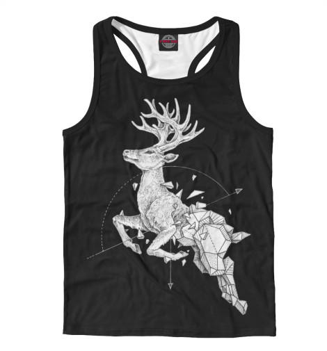 Майка борцовка Print Bar Geometric dark deer майка print bar oh my deer