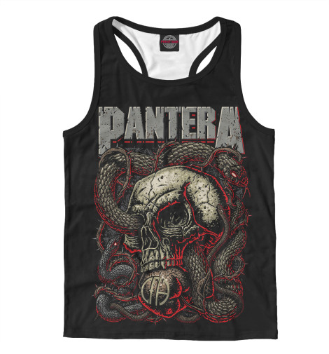 Майка борцовка Print Bar Pantera Skull and Snake худи print bar pantera cowboys from hell