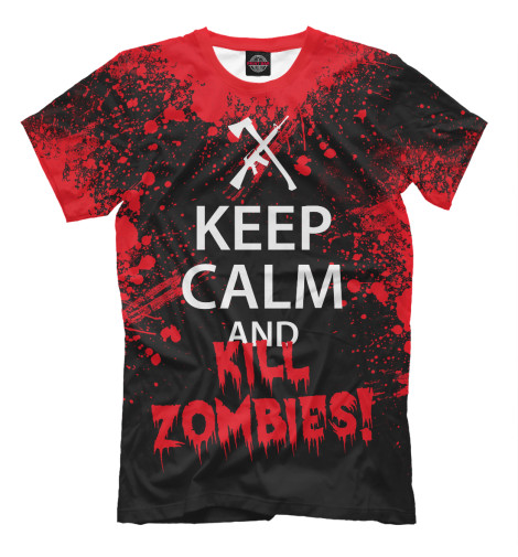 Футболка Print Bar Keep Calm & Kill Zombies футболка wearcraft premium printio keep calm art