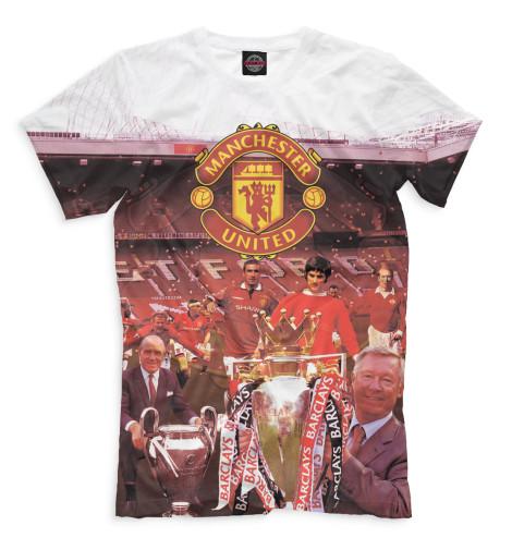 Мужская футболка Manchester United кубик