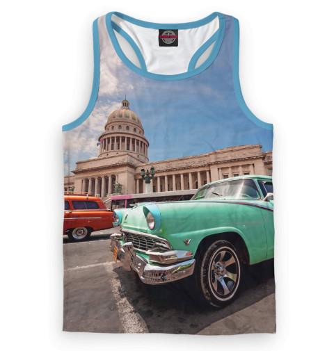 Мужская майка-борцовка Автомобили на Кубе
