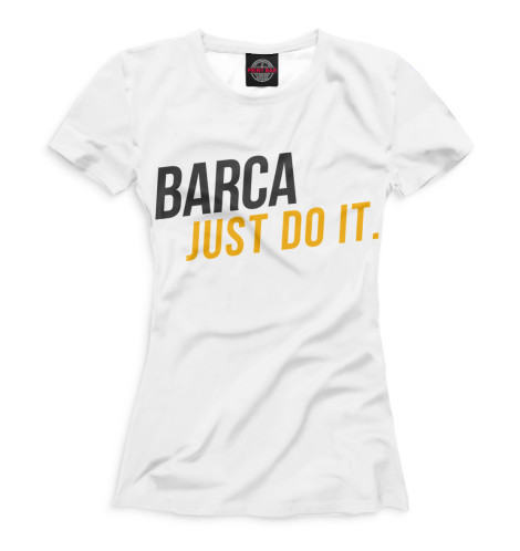 Женская футболка Barca