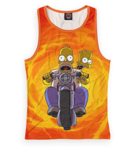 Женская майка-борцовка Гомер и Барт