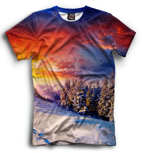 Мужская футболка Зима