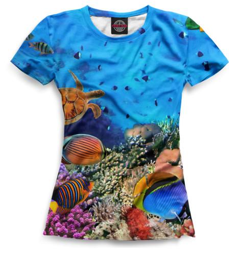 Женская футболка Подводный мир