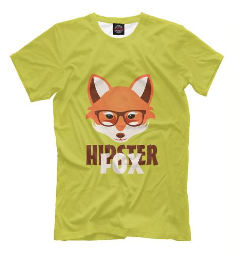 Футболка Print Bar Hipster Fox футболка стрэйч printio hipster wom