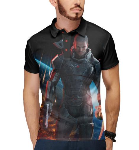 Поло Print Bar Mass Effect — Шепард mass effect volume 4 homeworlds