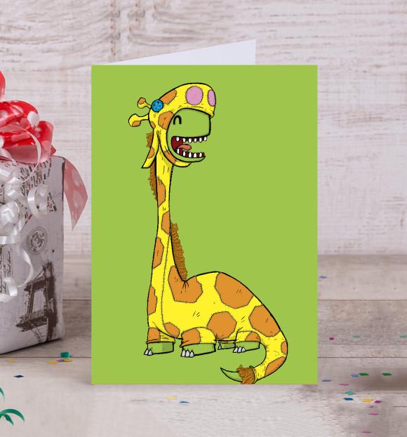 Для инстаграмм, почтовая открытка жираф