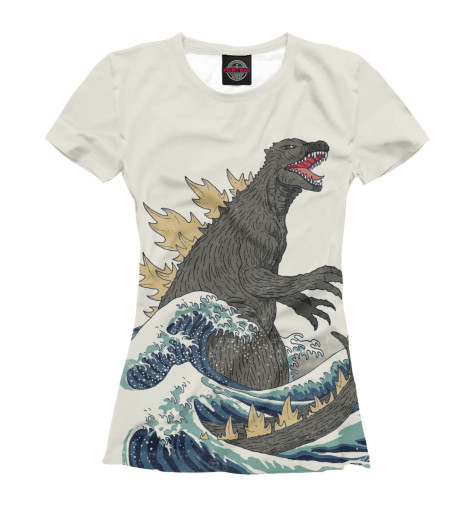 Футболка Print Bar Godzilla футболка классическая printio godzilla white