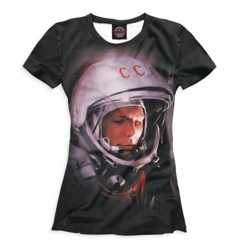 Женская футболка Юрий Гагарин