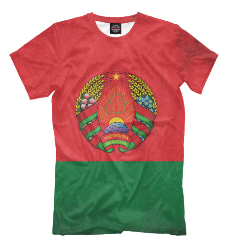 Футболка Print Bar Флаг Беларуси подарки для новорожденных купить в беларуси