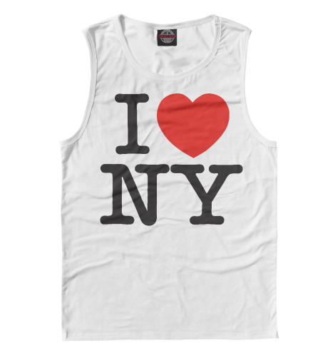 Майка Print Bar I Love New York dkny love from new york for women где