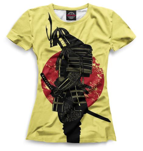 Женская футболка Доспехи самурая