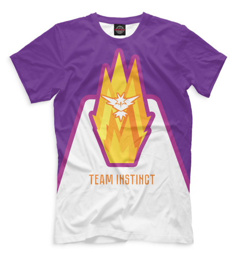 Футболка Print Bar Team Instinct футболка print bar pokemon go instinct team