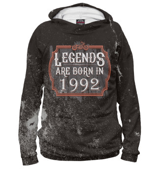 Мужское худи Legends Are Born In 1992