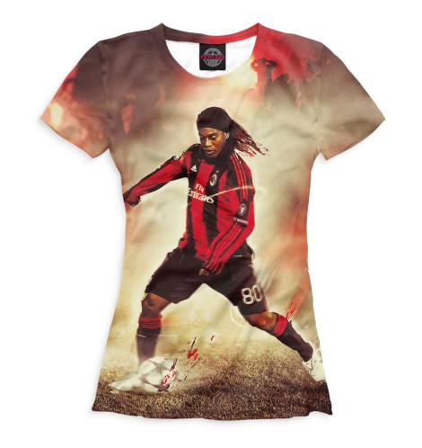 Женская футболка Роналдиньо